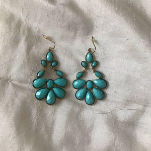 Turquoise Filigree Earrings